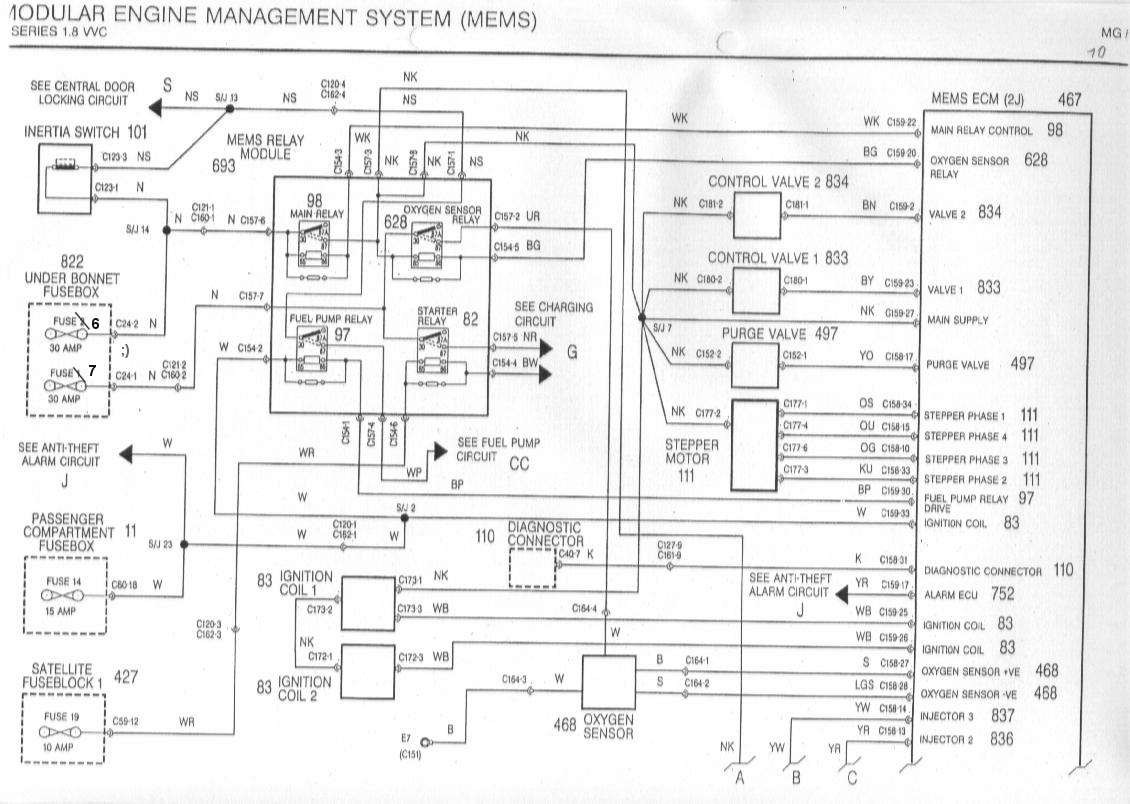 sb10  Pin Sensor Connector Wiring Diagram on