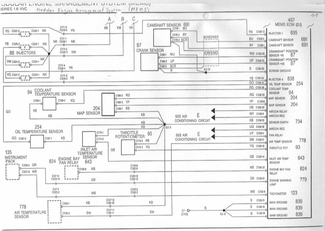 cam and crank sensor earth - mg-rover.org forums mg zr wiring diagram 1973 mg mgb wiring diagram schematic