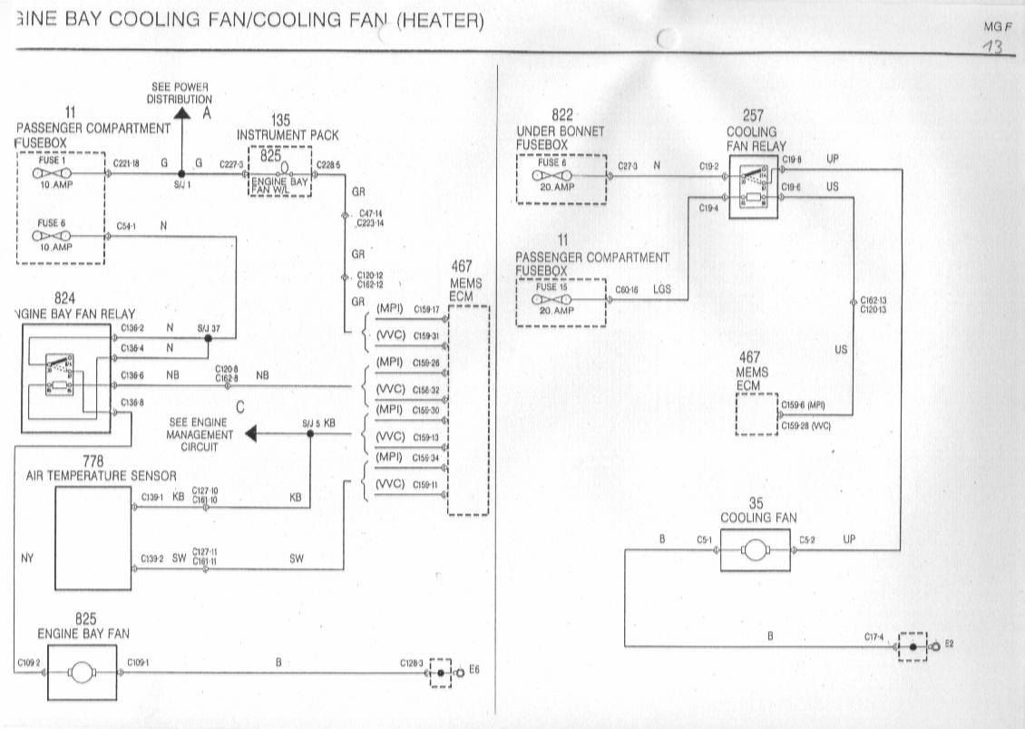 Radiator Fan Wiring Diagram : Rover cooling fan wiring diagram