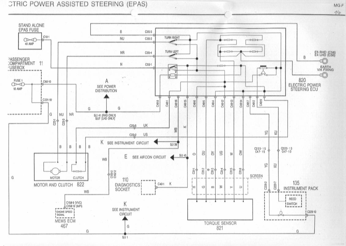 sb14 mgf power steering epas ecu dead mg rover org forums mg wiring diagram at n-0.co
