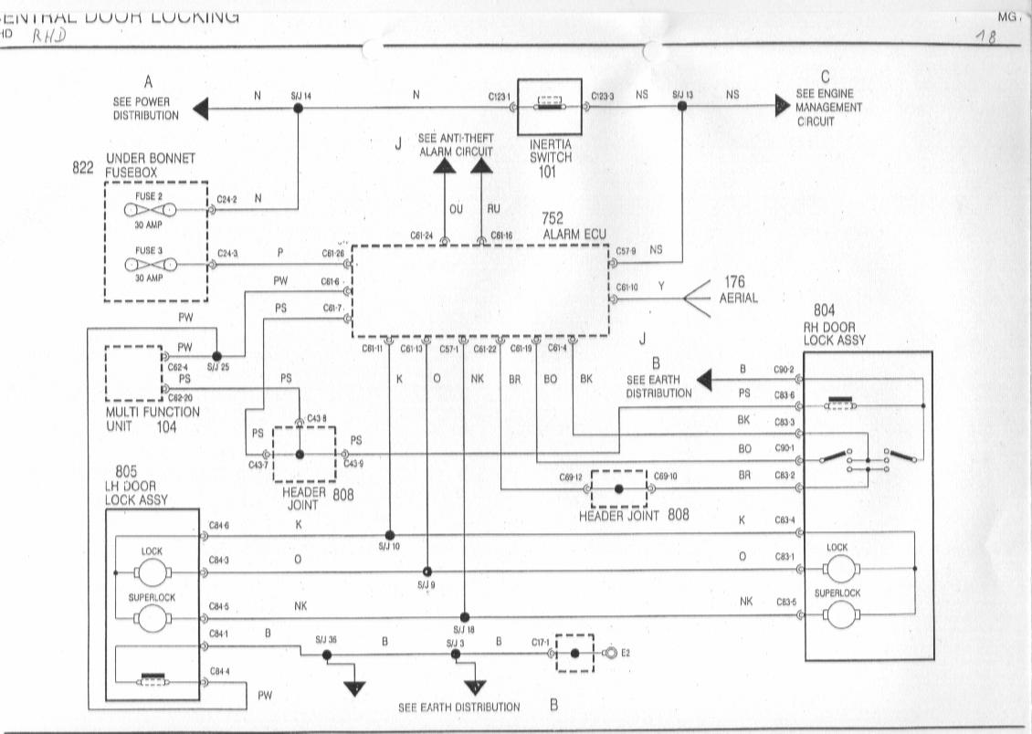 sb18 diagrams 1540980 mg zr wiring diagram mg zr horn wiring diagram rover 25 fuse box diagram at crackthecode.co