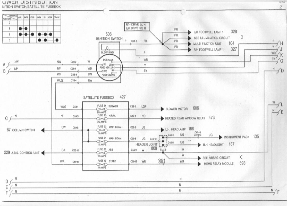 sb2 headlight wiring issues help required mg rover org forums rover 25 fuse box diagram at crackthecode.co
