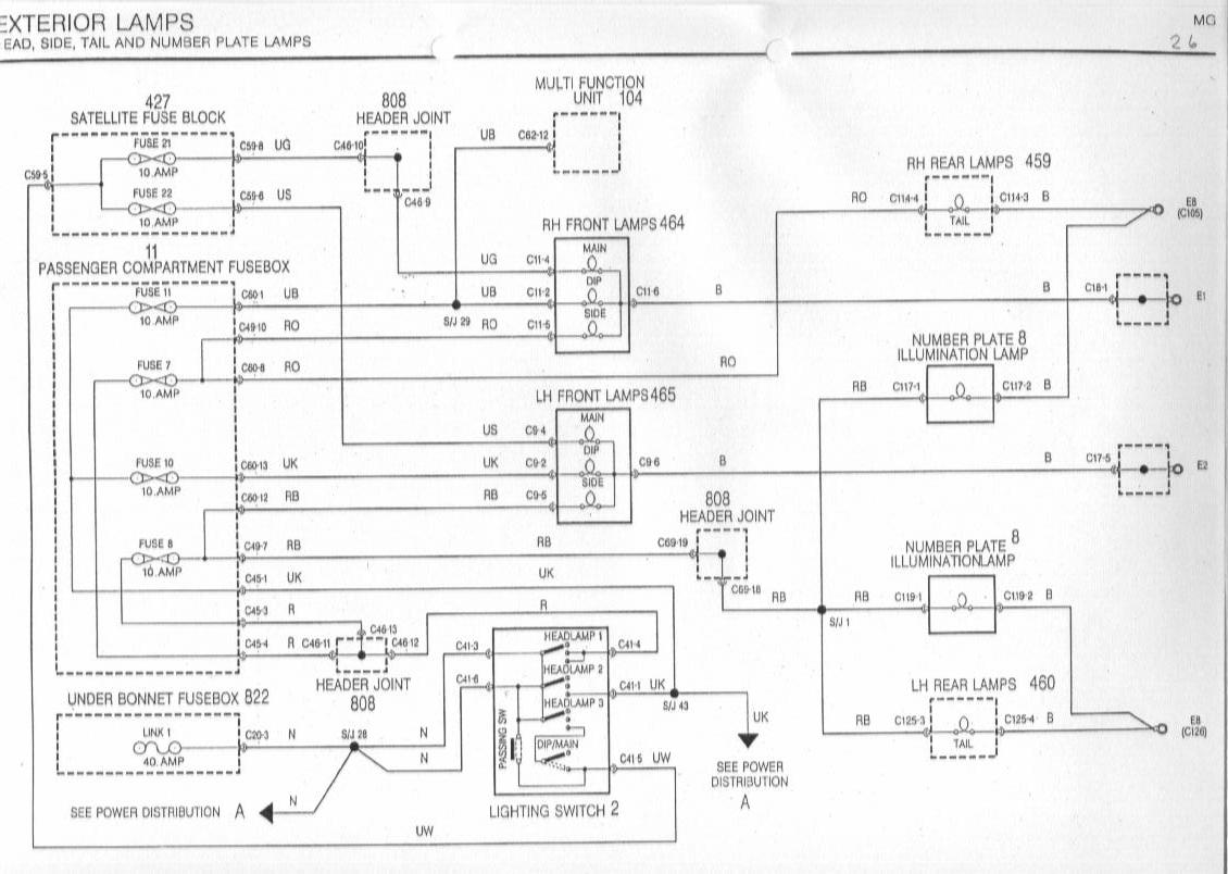 sb26 headlight wiring issues help required mg rover org forums rover 25 fuse box diagram at crackthecode.co