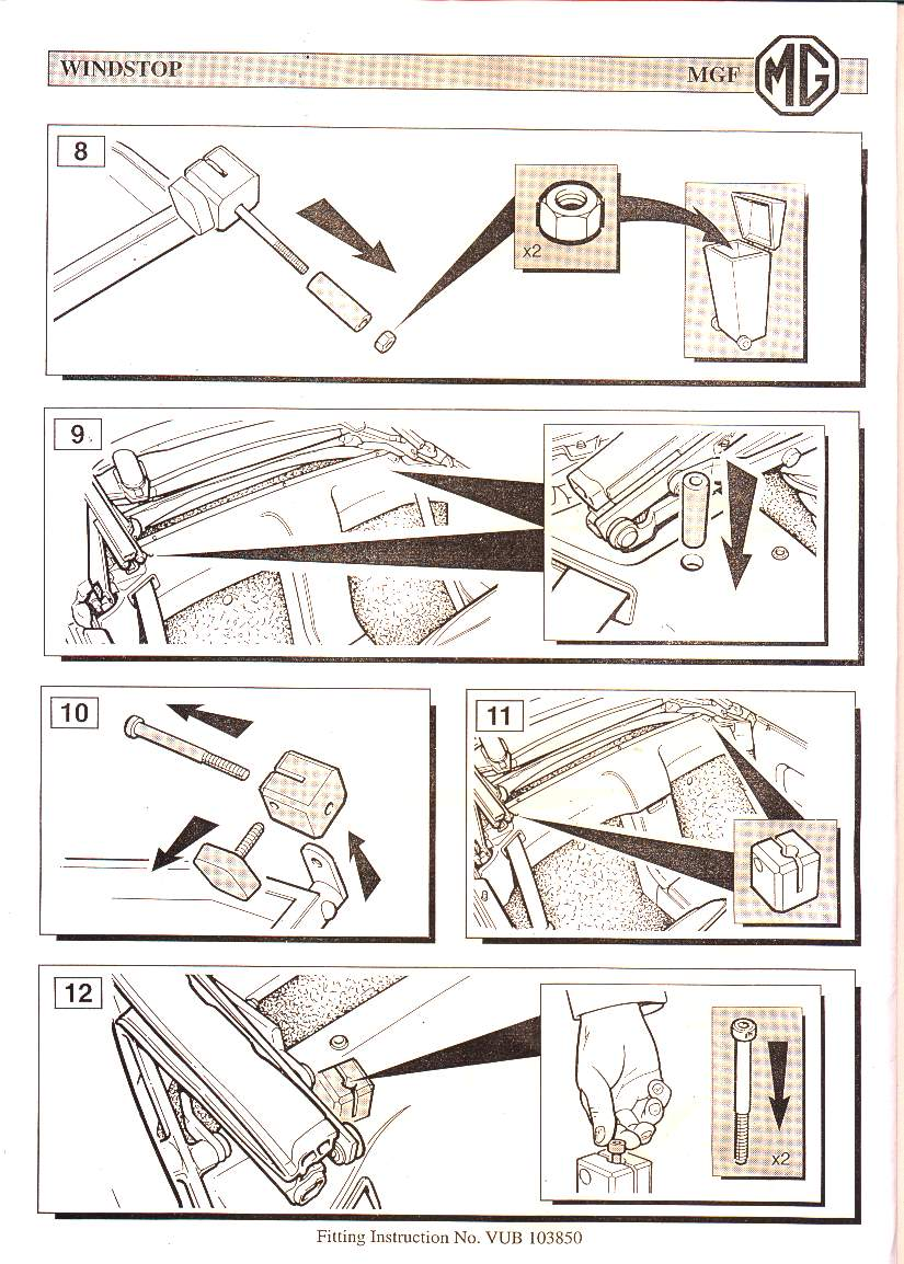 bmw e46 wind deflector fitting instructions