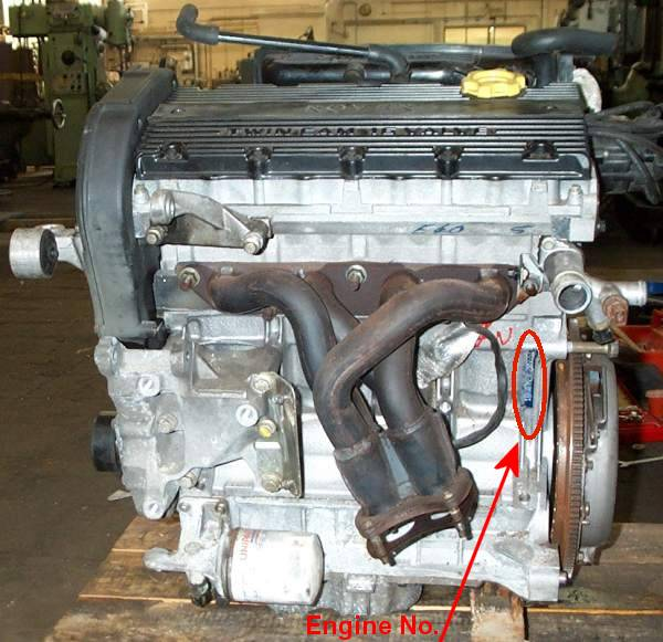 Mgf Tf K Engine Number Location