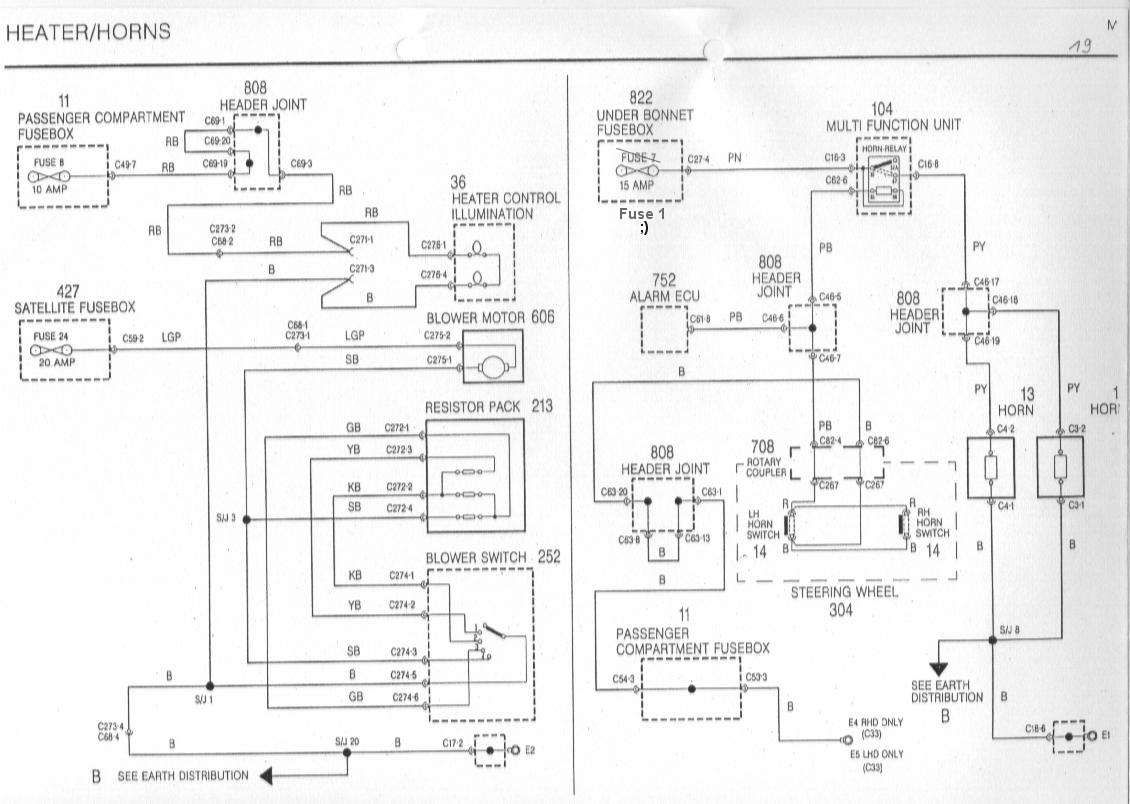 2004 Mg Tf Wiring Diagram 25 Images 1973 Midget Sb19 Horn Failure Mgf Technical Cars Net At Cita