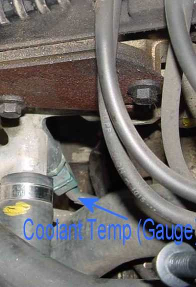 Coolant Gauge on The Engine Coolant Temperature Ect Sensor 3 On